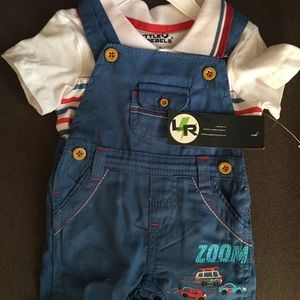 Polo and Overall boys onesie